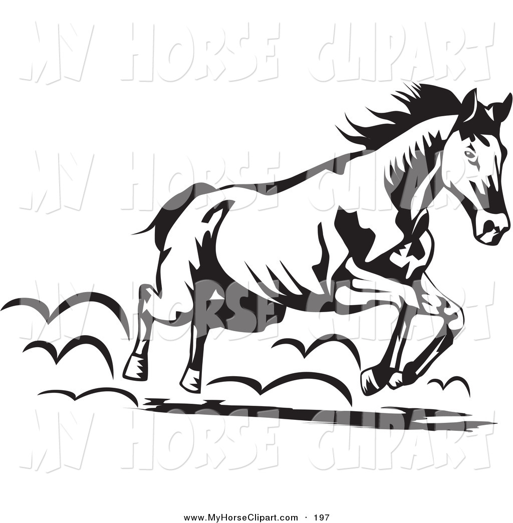 Running Horse Clipart Black And White Clipart Black And White
