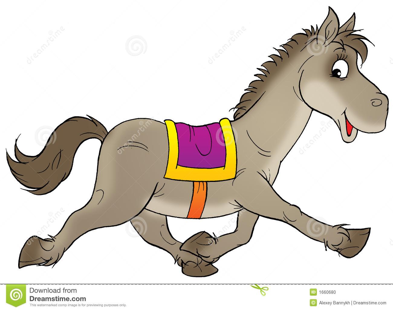 Horse running clipart