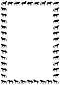 Running Horse Herd Silhouette | Clipart Panda - Free Clipart Images