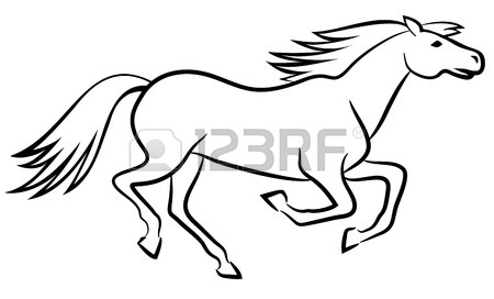 Running Horse Outline | Clipart Panda - Free Clipart Images - photo#3