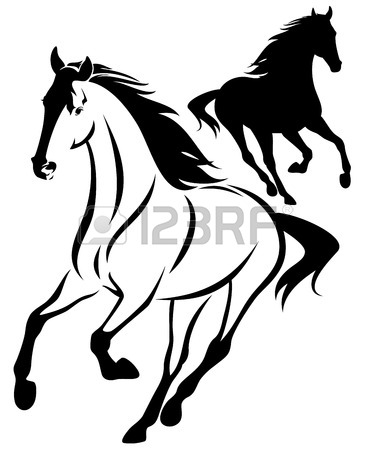 Running Horse Outline | Clipart Panda - Free Clipart Images - photo#10