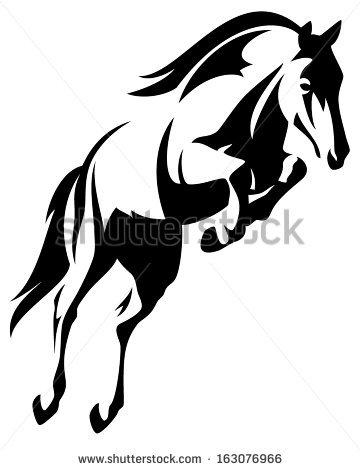 Running Horse Outline - photo#26