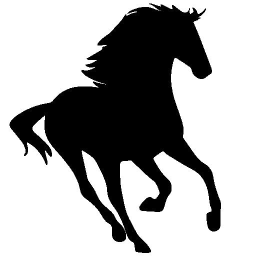 running 20horse 20silhouette  Running Horse Png