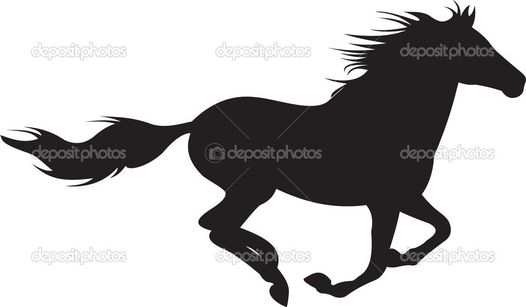 Running Horse Silhouette Tattoo