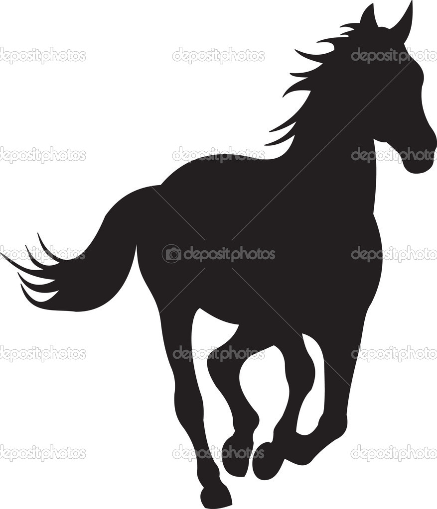 Gallery For > Western Horse Silhouette Clipart