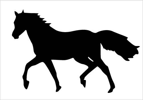 Quarter Horse Running Silhouette running-horse-s...