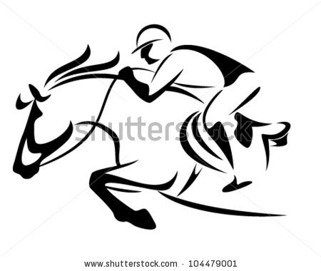 Running Horse Silhouette Vector