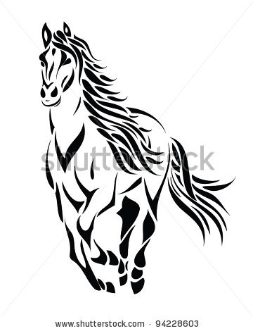 running horse outline clipart panda free clipart images. Black Bedroom Furniture Sets. Home Design Ideas