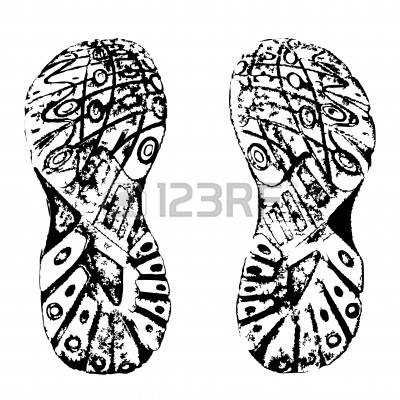Shoe Prints Drawing Running Shoe Print
