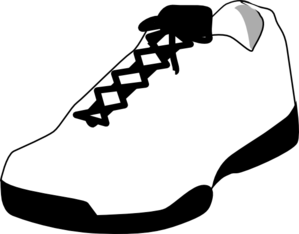 Running Shoes Clipart Black And White | Clipart Panda ...