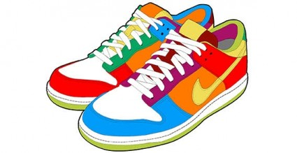 Clip Art Running Shoes Clip Art running shoes clipart panda free images