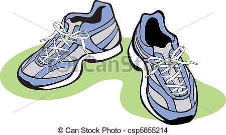 Walking Shoes Illustration