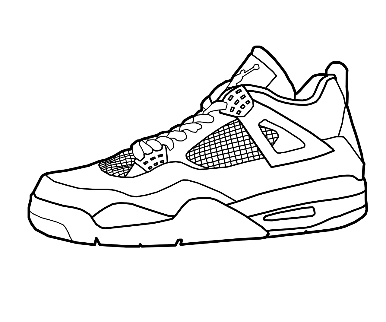 Running Shoes Drawing