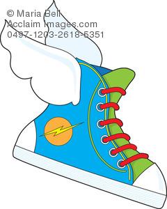 Running Shoe Free Clipart