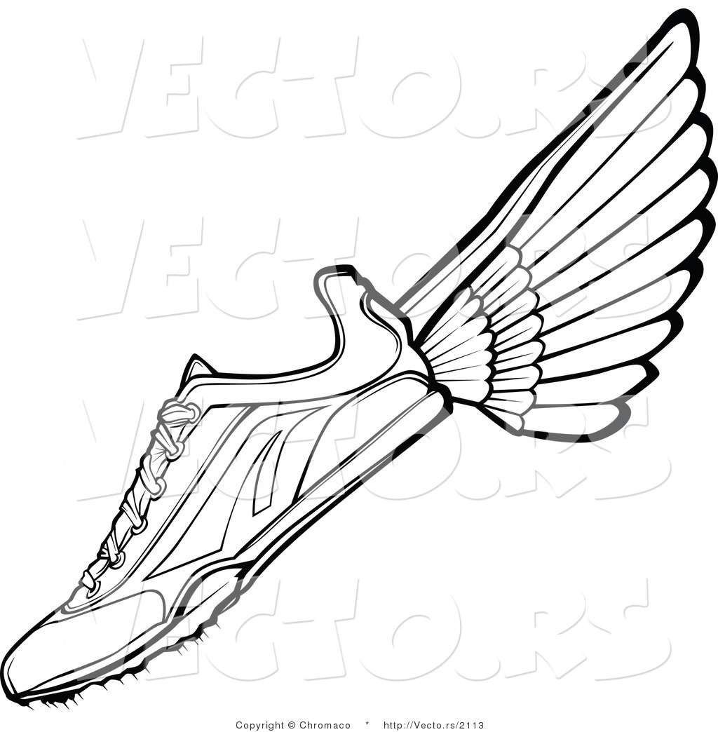 running shoes with wings clipart clipart panda free
