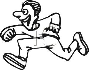 running 20tiger 20clipart  Run Clip Art Black And White