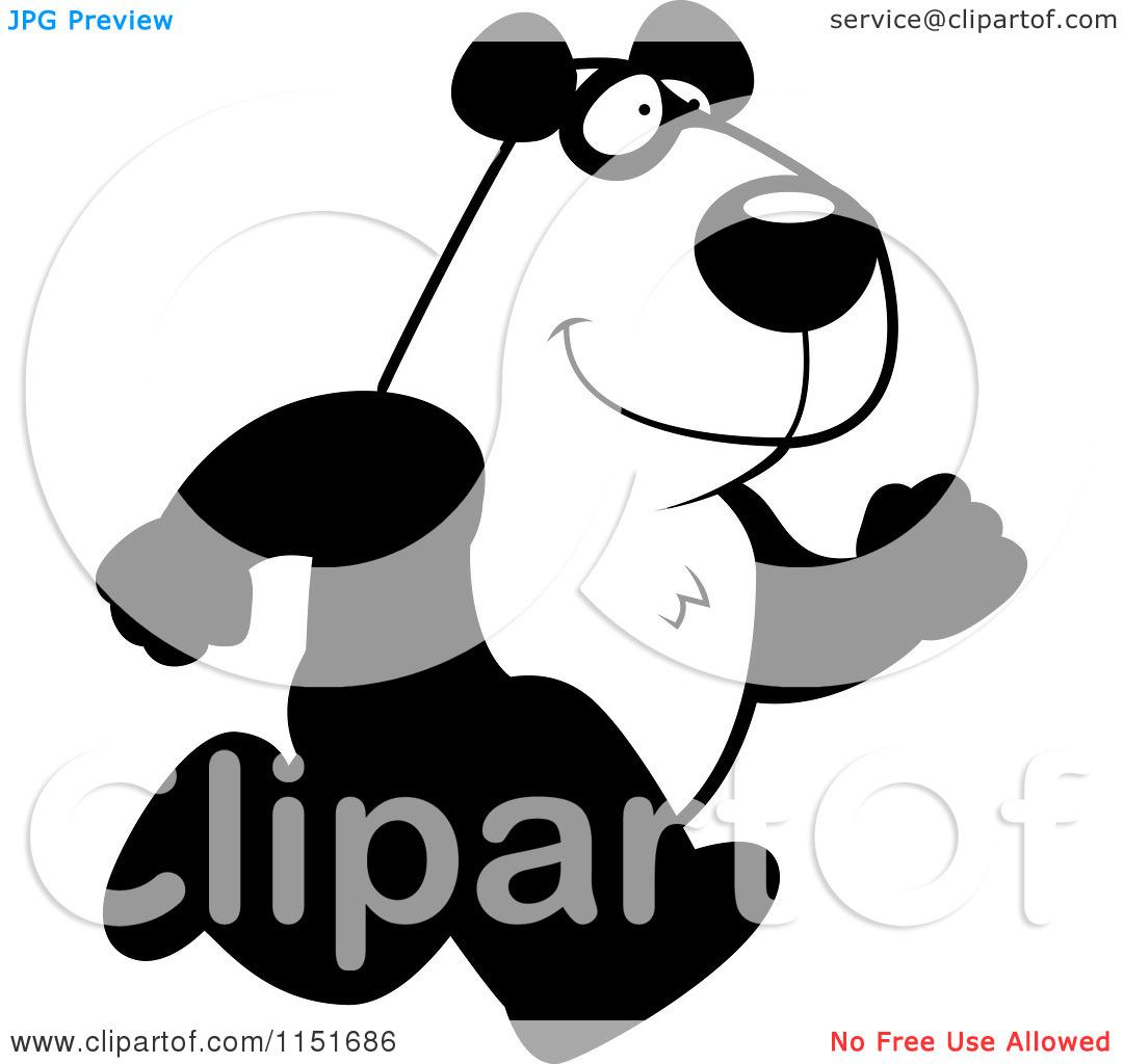 clipart panda running - photo #22