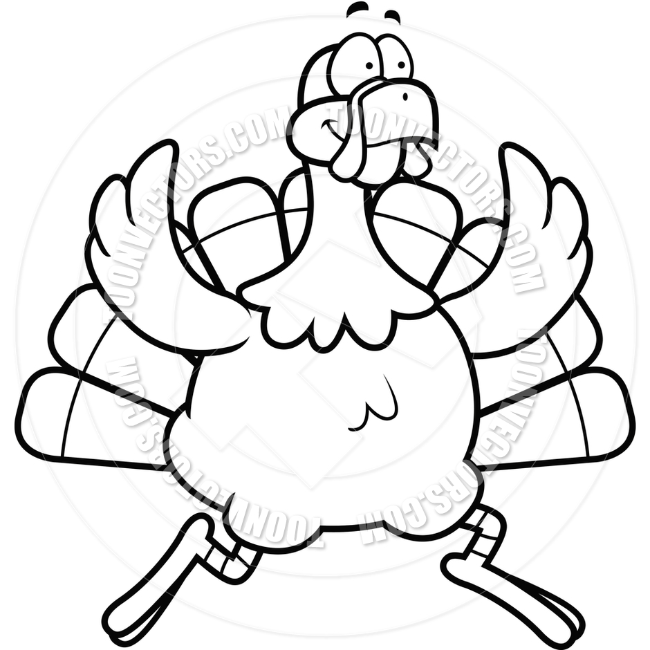 running%20turkey%20clipart%20black%20and%20white