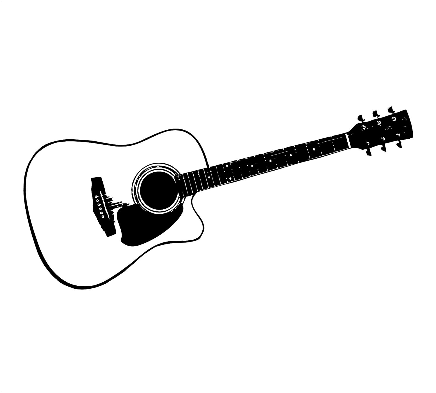 elvis guitar clipart black and white clipart panda