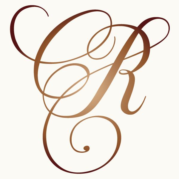 s monogram wedding