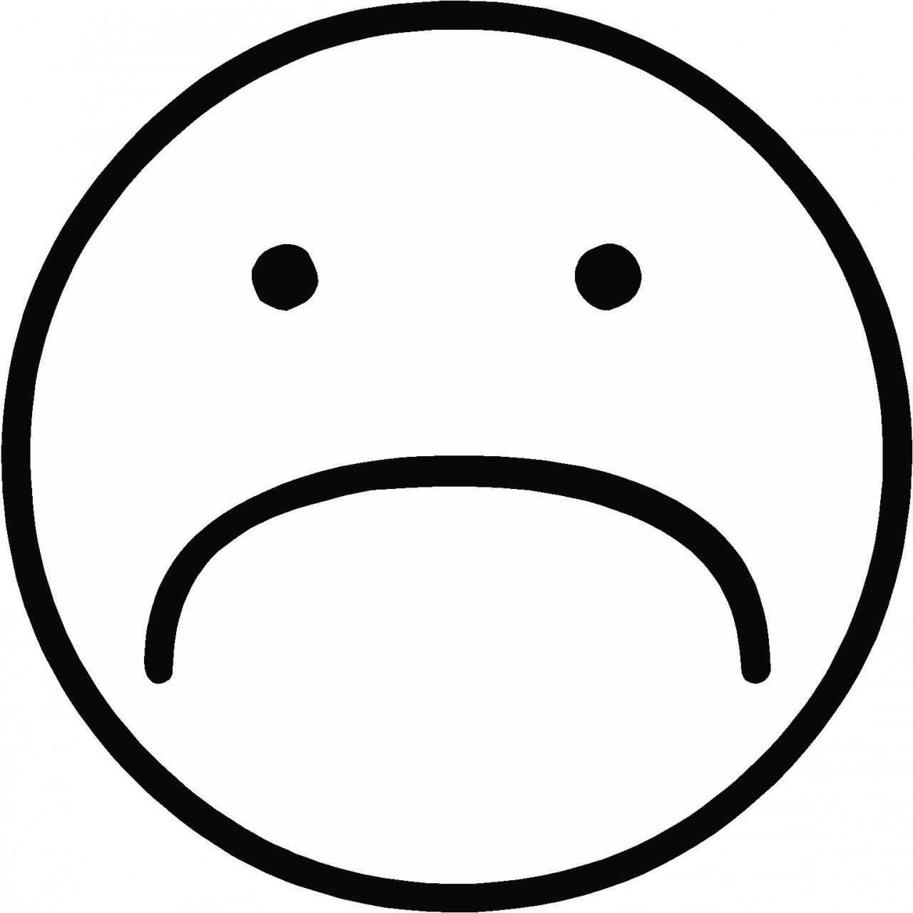 Sad Face Black And White | Clipart Panda - Free Clipart Images