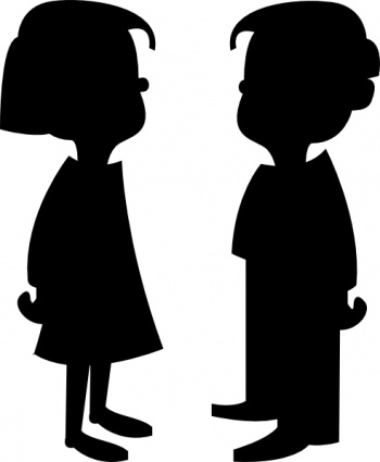 Sad girl clipart girl and boy clip art