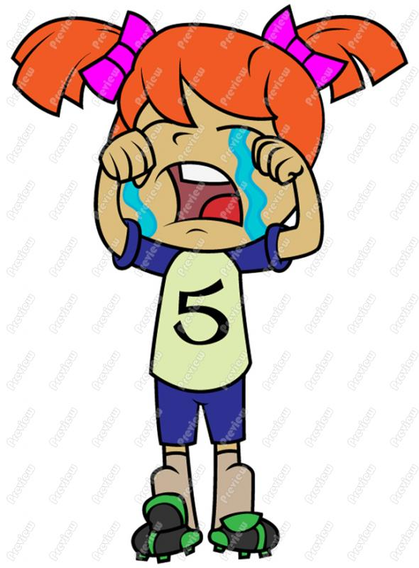 Sad Girl Crying Clipart - Free Clip Art Images