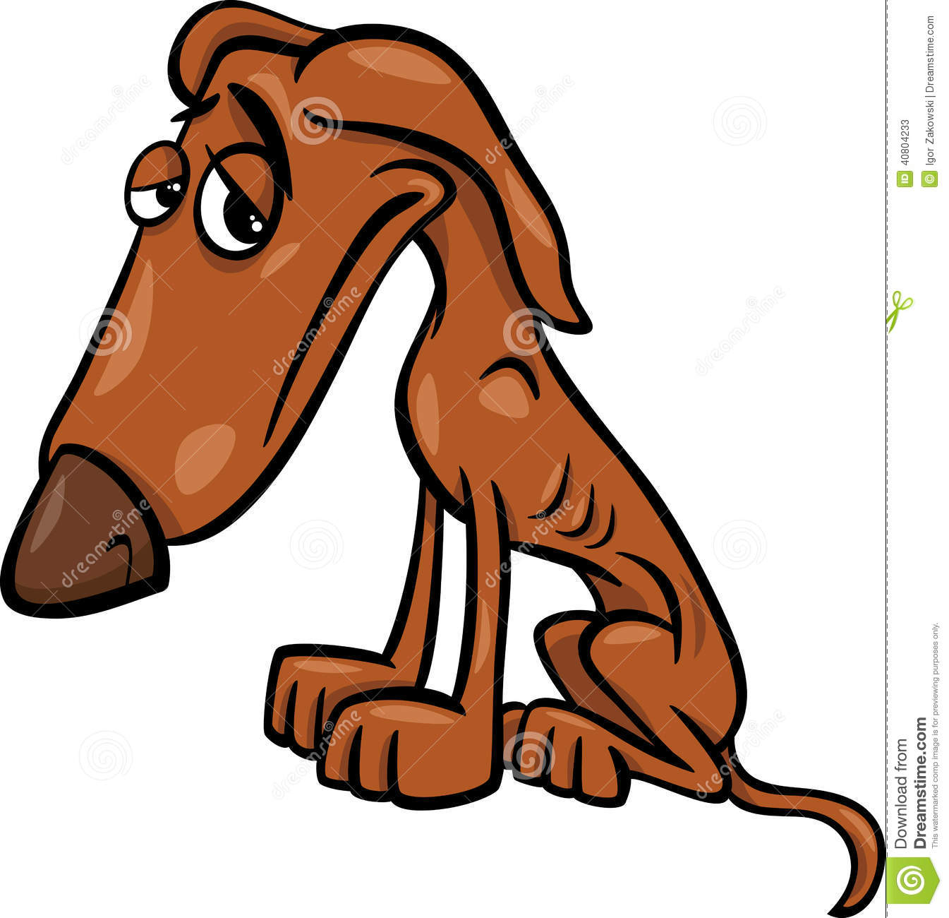 Dog With Droopy Eyes Cartoon