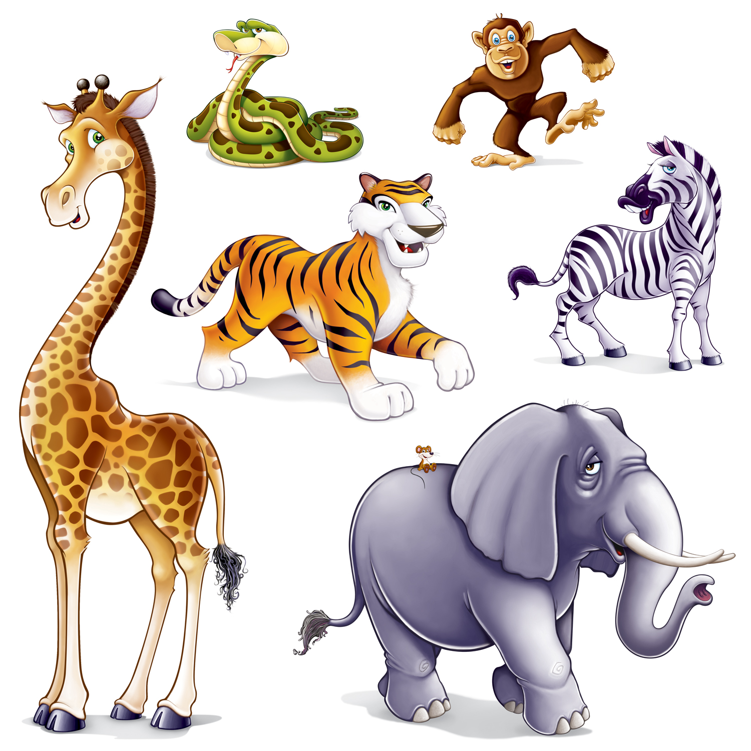Line Art Jungle Animals : Baby jungle animals clipart panda free
