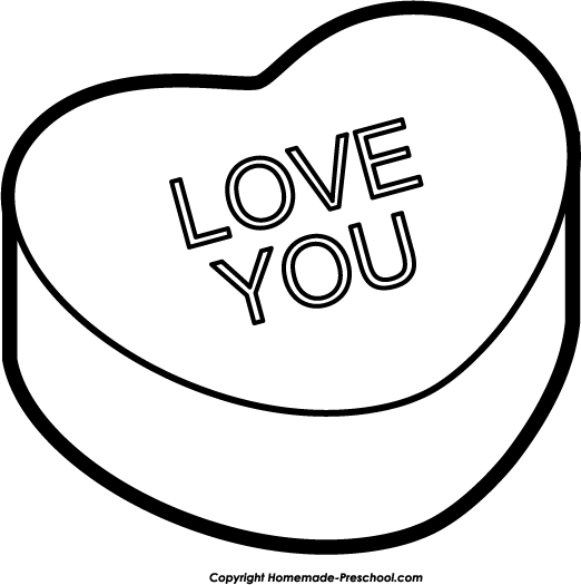 Love You Clipart Black And White | Clipart Panda - Free Clipart ...