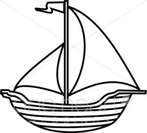 Sailboat Clip Art Black And White