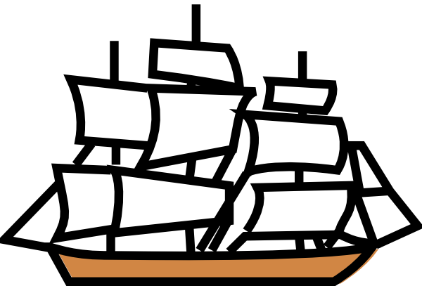Pirate Ship Clipart Black And White | Clipart Panda - Free Clipart ...