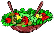 Image result for clip art salad in a bowl