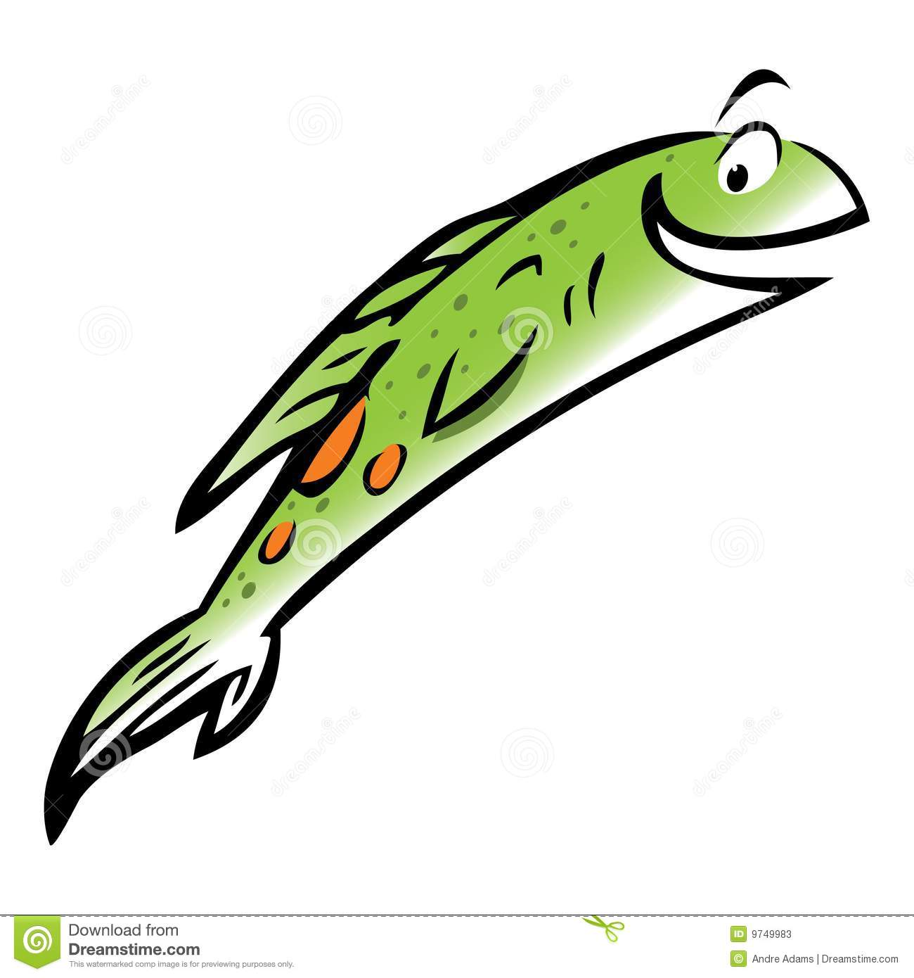 Cartoon fish jumping out of water clipart - photo#9
