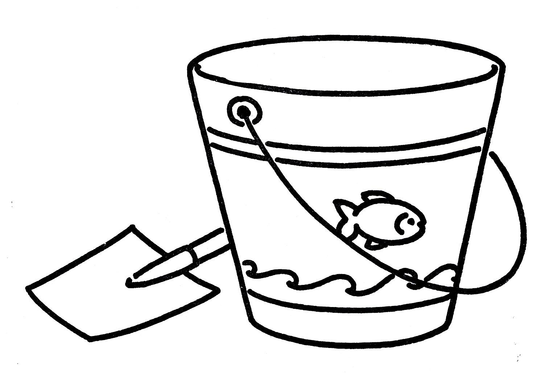 Line Art Term : Sand bucket clipart black and white panda free