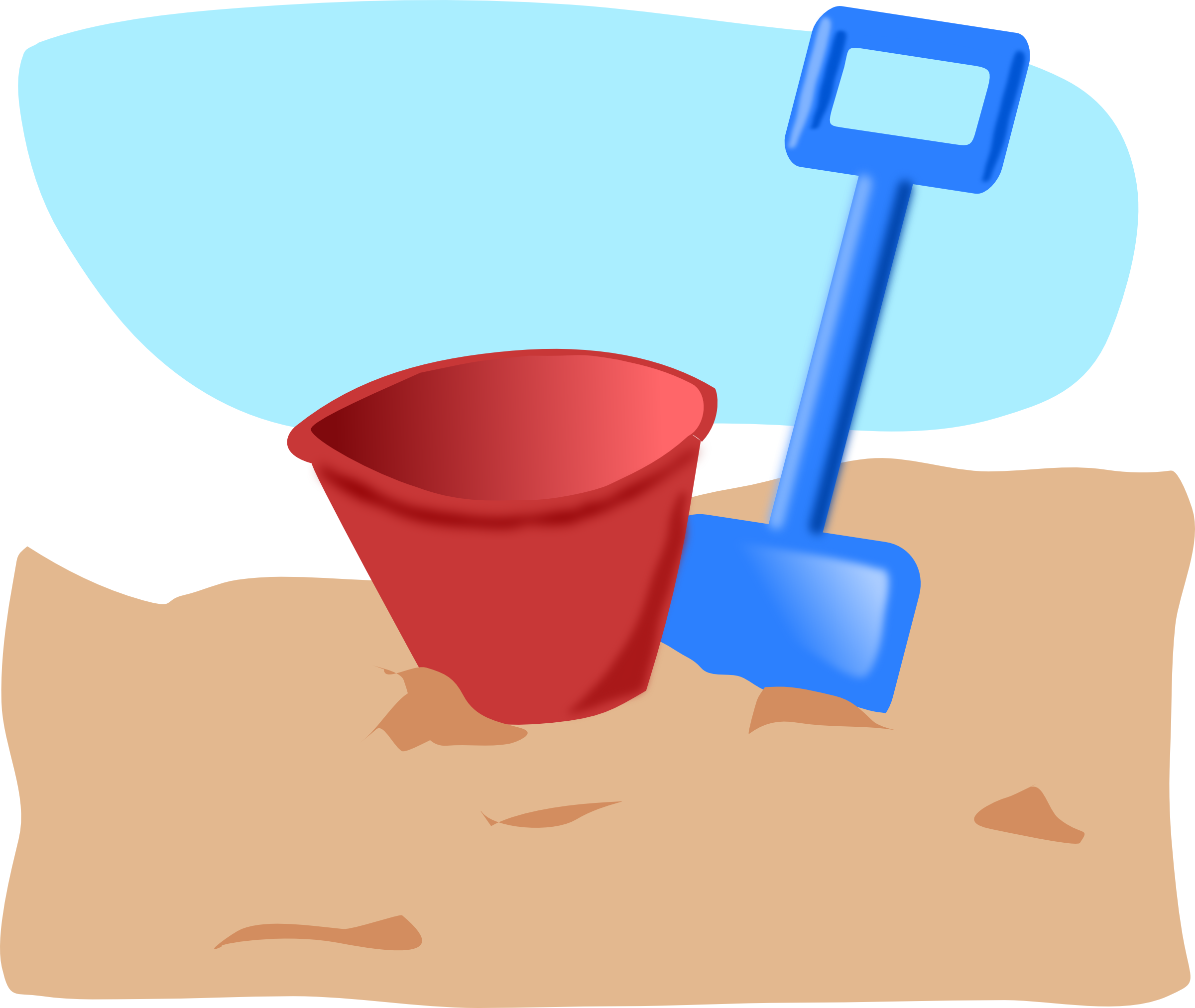 Sand Bucket Clipart Black And White | Clipart Panda - Free ...