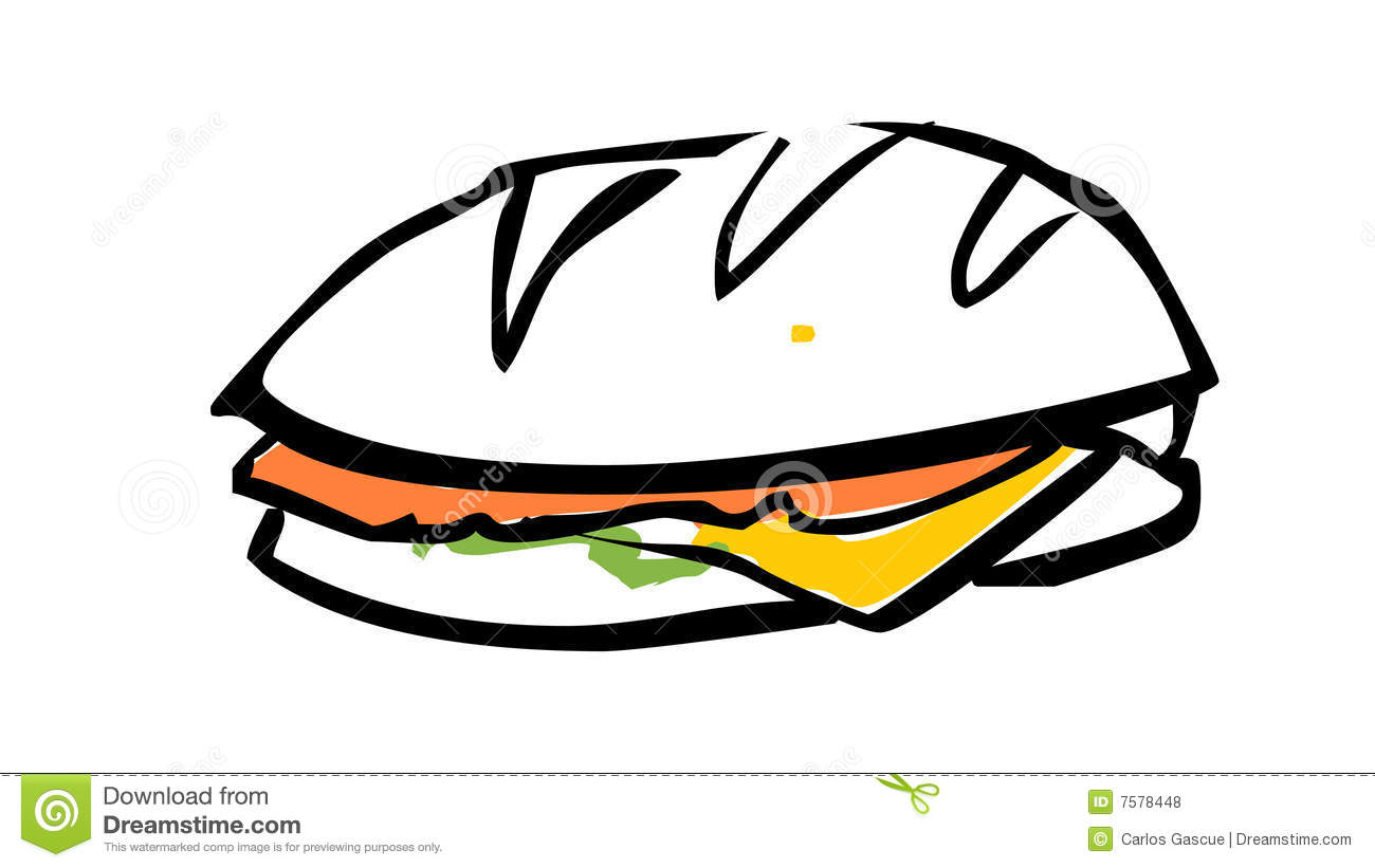 Sub Sandwich Drawing | Clipart Panda - Free Clipart Images