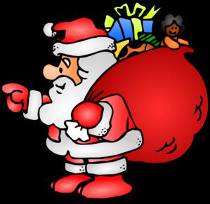 Santa Claus Clip ArtBlack Santa Claus Clipart