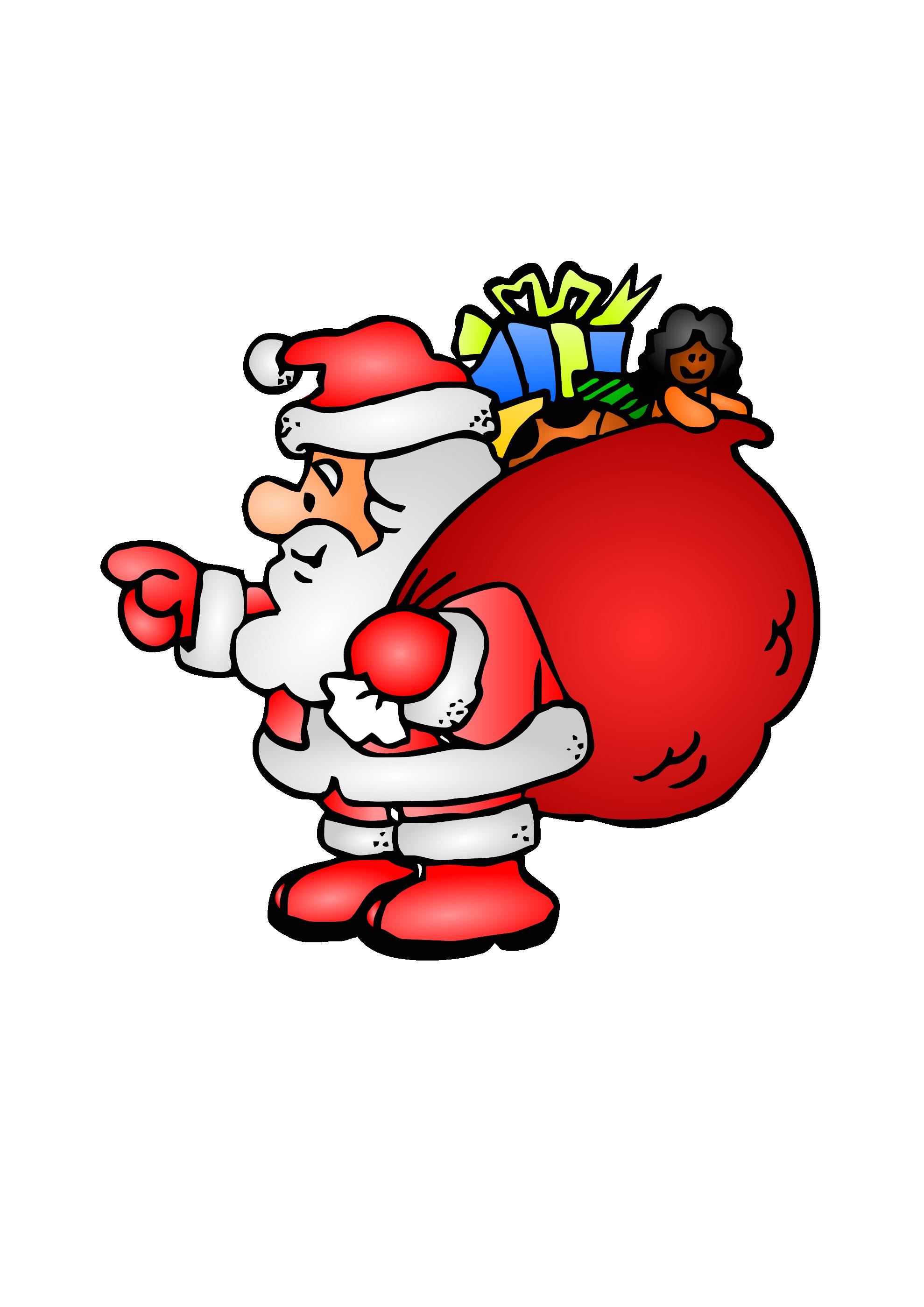 santa bag clipart free - photo #14