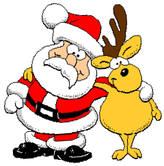 santa-claus-clip-art-santa w deer pngBlack Santa Claus Clipart