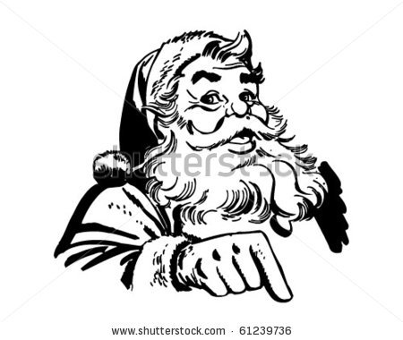 santa-claus-clip-art-stock-vector-santa-claus-pointing-retro-clip-art    Black Santa Claus Clipart