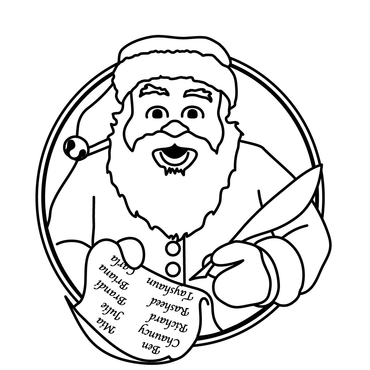 free black and white santa clipart - photo #7