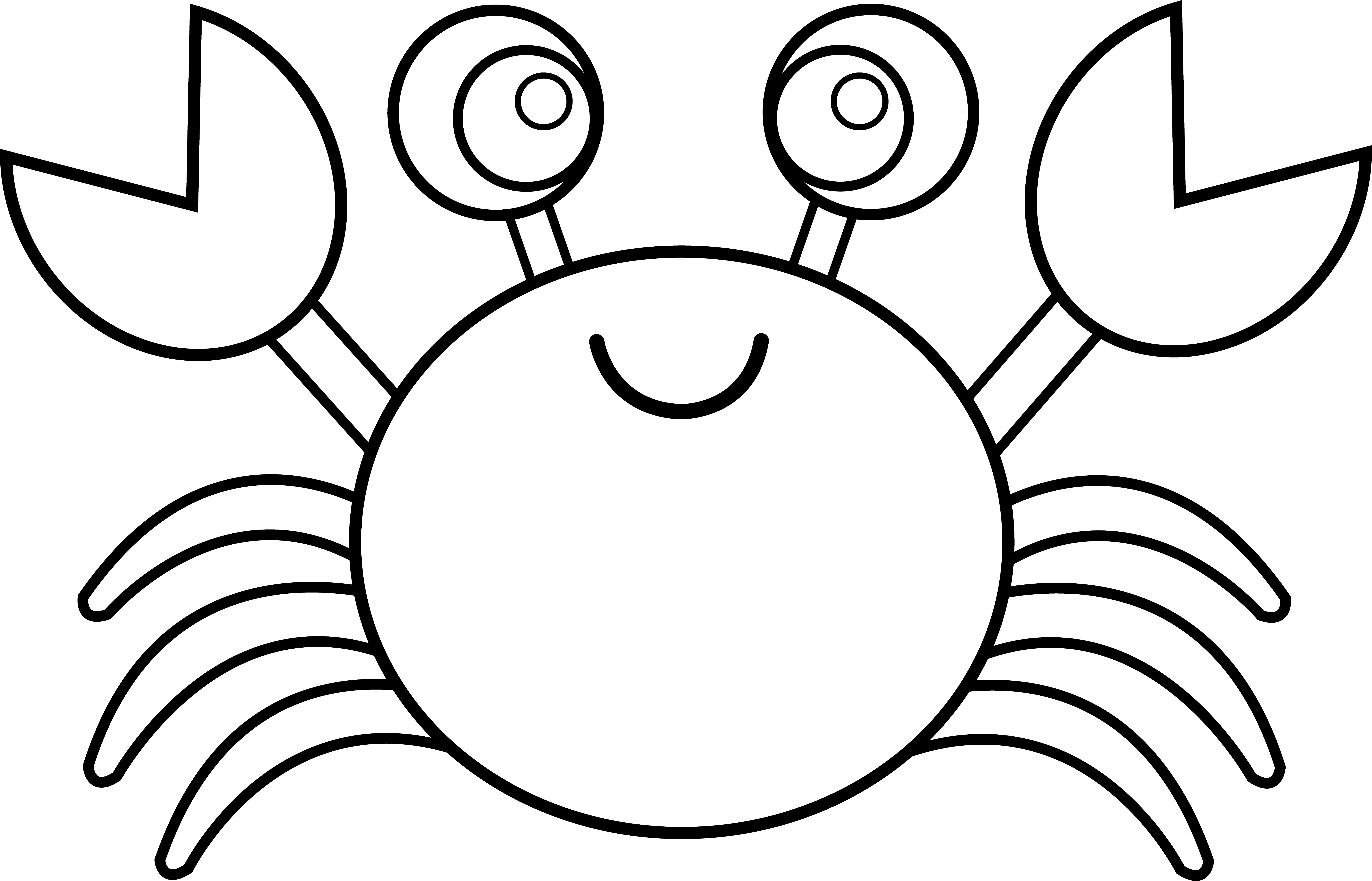Crab Clipart Black And White