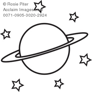 planets clipart black and white - photo #13