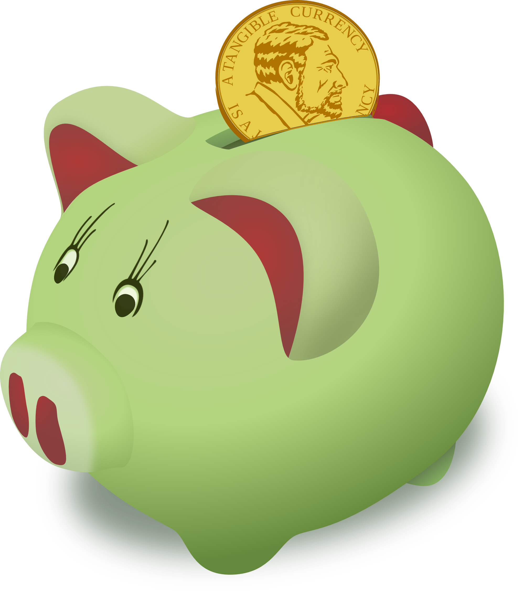 Saving clipart clipart panda free clipart images for Transparent piggy bank money box