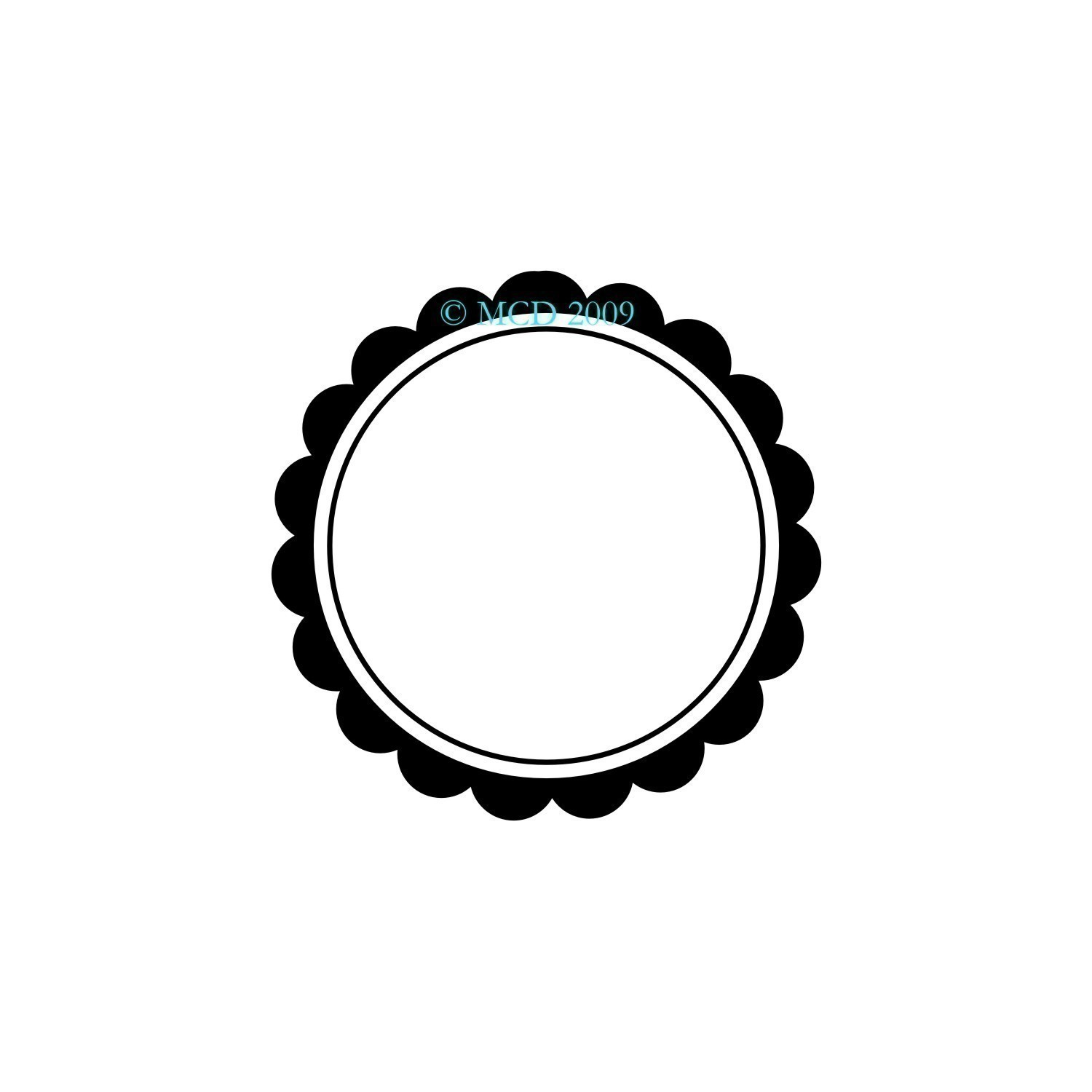 Scalloped Circle Frame. 🔎zoom | Clipart Panda - Free Clipart Images