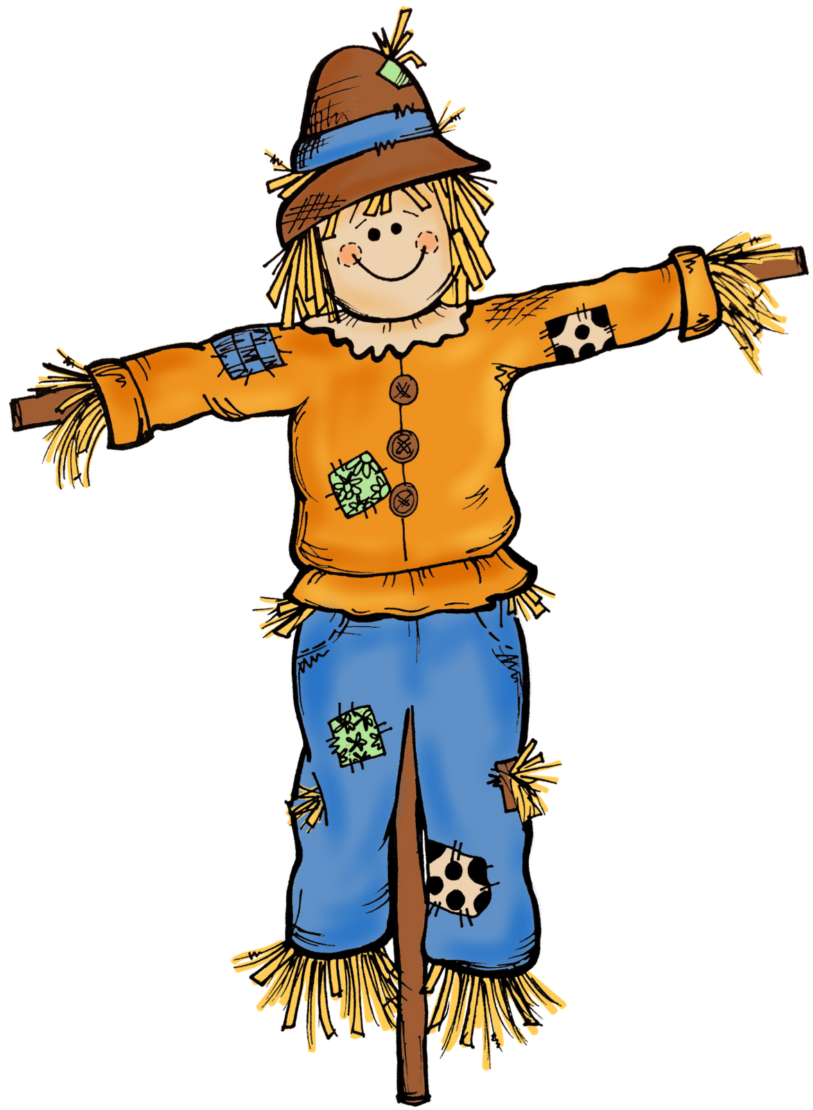 graphic regarding Printable Scarecrows titled Scarecrow Clip Artwork Printable Clipart Panda - Absolutely free Clipart