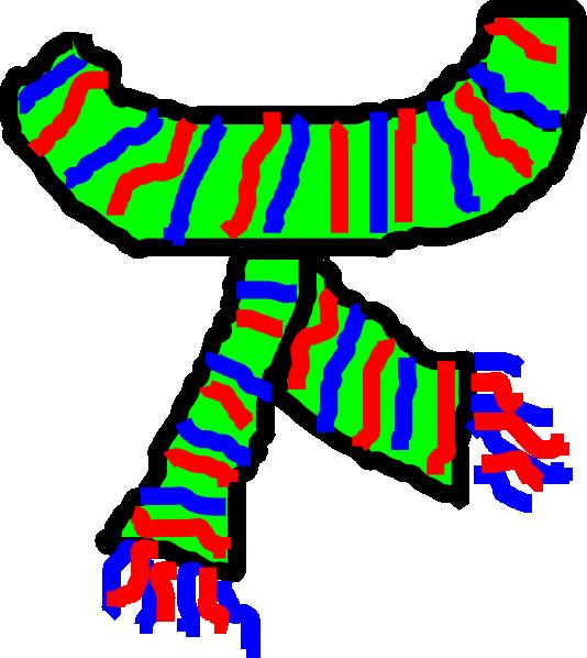 Scarf clip art - vector clip
