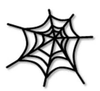 Spider web scary. Black clip art clipart