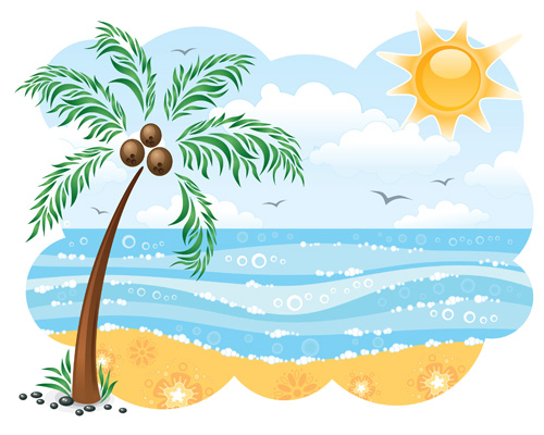 clipart beach scenes - photo #18